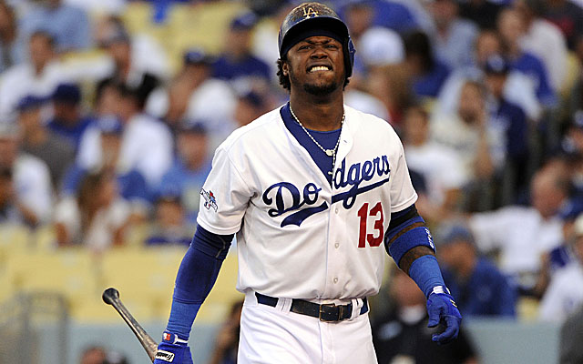 Dodgers shortstop Hanley Ramirez wasn't able to make it through the entirety of Game 4. (USATSI)