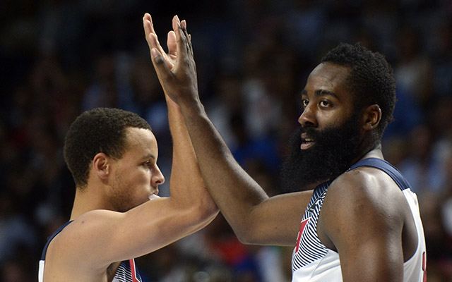James Harden and Stephen Curry have made their cases for NBA MVP.  (Getty)