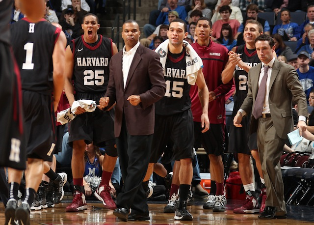 After missing the NCAA tournament for 66 seasons, Harvard is headed back for the second year in a row. (Getty)