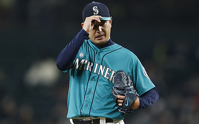 Hisashi Iwakuma's deal with L.A. could be on hold.