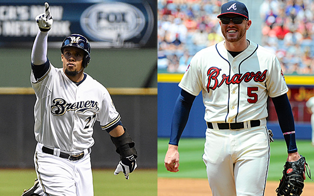 Carlos Gomez and Freddie Freeman will cross paths again this week.