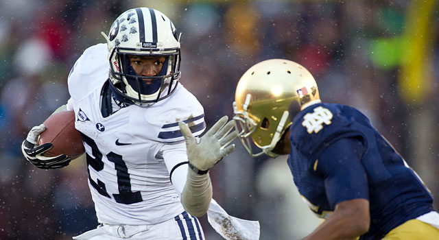 BYU's Jamaal Williams and Notre Dame's KeiVarae Russell expect to battle for the best Independent team. (USATSI)