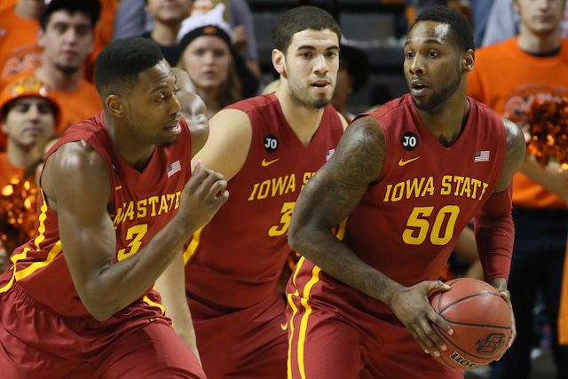 Melvin Ejim, Georges Niang and DeAndre Kane combined for 65 points in the first OK State game. (USATSI)