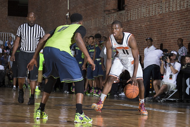 Seton Hall-bound Isaiah Whitehead is one of the best backcourt scorers in the class of 2014. (Under Armour/Kelly Kline)