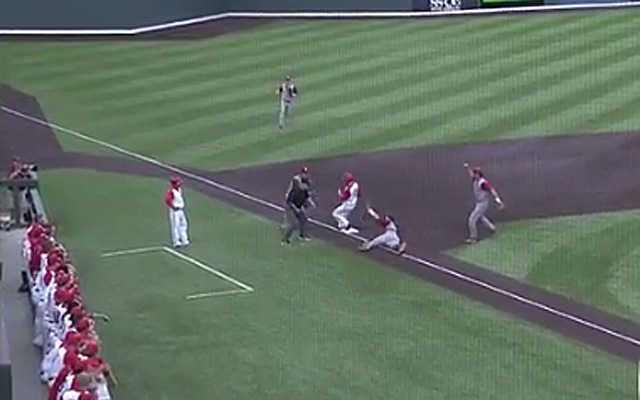 The Hoosiers get three on one pitch.