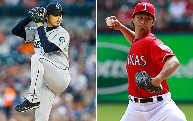 Iwakuma and Darvish finished second and third, respectively, in AL Cy Young voting in 2013.