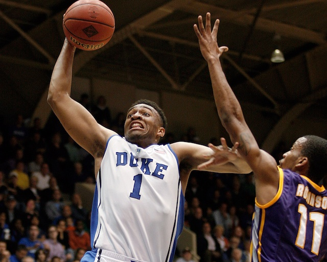 The presence of Jabari Parker is a man-sized mark in the favor of the Blue Devils.  (USATSI)