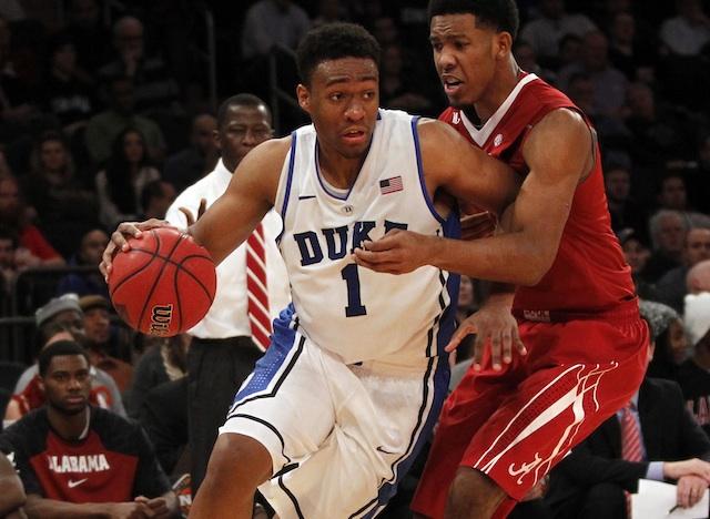 Can standout freshman Jabari Parker carry Duke to a neutral-court win over Arizona? (USATSI)