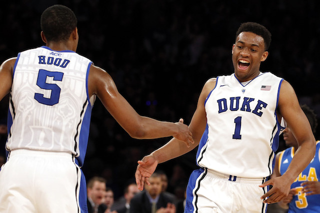 Jabari Parker was outstanding on the offensive end in Duke's win over UCLA on Thursday. (USATSI)