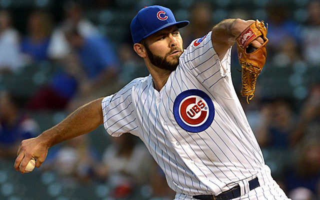 Jake Arrieta hasn't allowed a hit through seven innings.