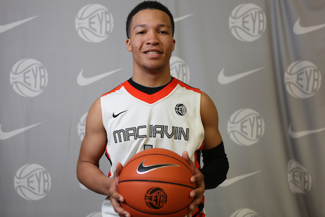 Jalen Brunson is the No. 3-ranked point guard in the class of 2015. (Nike EYB/Jon Lopez)
