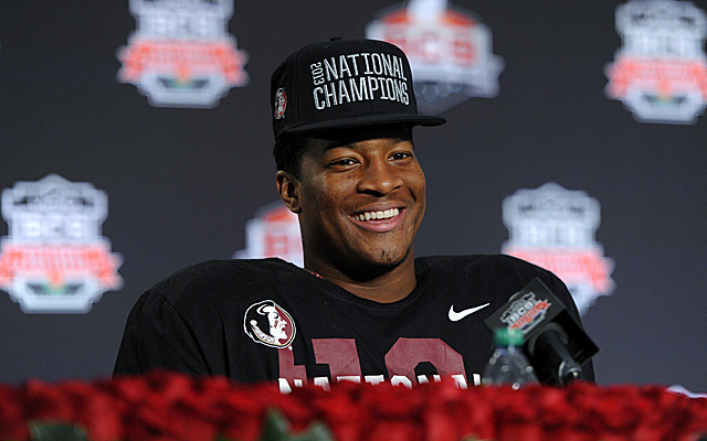Jameis Winston certainly has plenty to smile about.