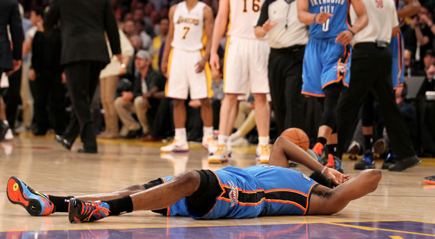 a5c2b12d0d6c NBA suspends Metta World Peace 7 games for elbow to James Harden ...