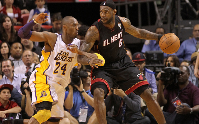 Kobe Bryant held off LeBron James for most popular among rookies.    (USATSI)