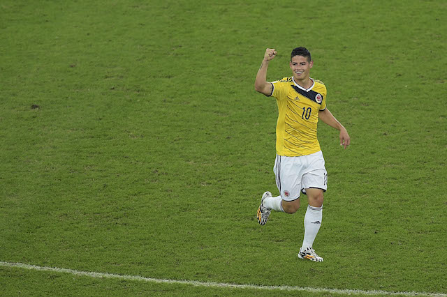 Colombia attacker James Rodriguez has been the breakout star of the World Cup. (Getty Images)