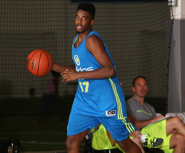 JaQuan Lyle was the best guard left in the class of 2014. (Adidas)