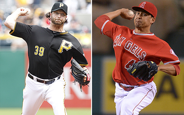 Former closers Jason Grilli and Ernesto Frieri have been traded for each other.