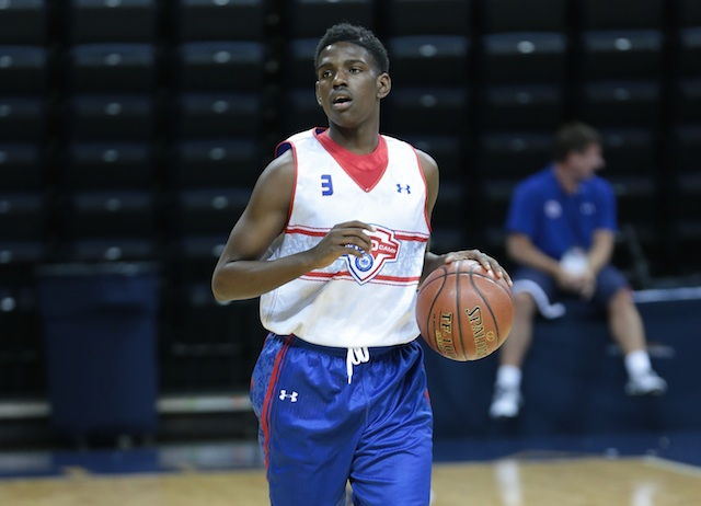 Jawun Evans was consistently impressive throughout the week. (Kelly Kline/Under Armour)