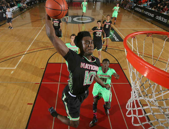 Jaylen Brown averaged 23.5 points on the Adidas AAU circuit this season. (Adidas)