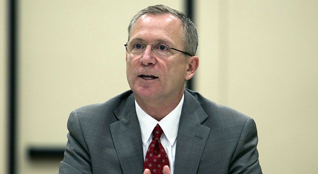Arkansas AD Jeff Long is one of the 13 member selection committee. (USATSI)
