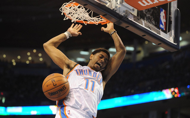 Jeremy Lamb helped the Thunder top San Antonio.  (USATSI)