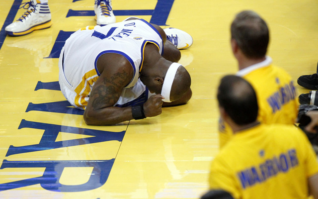 Jermaine O'Neal is questionable for Saturday's Game 7.   (USATSI)
