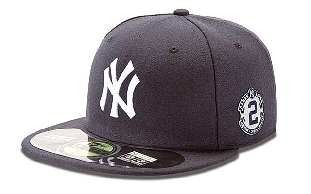 Here's the Derek Jeter hat the Yankees will wear this weekend.