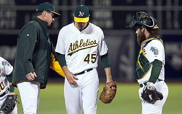Jim Johnson is out as A's closer.