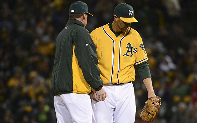 It's been a less than ideal beginning for Jim Johnson in Oakland.