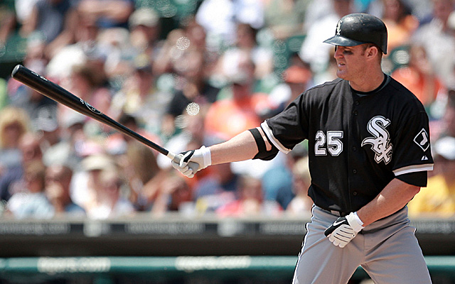 Jim Thome is back with the White Sox, but not to wear this uniform again.