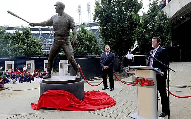 Jim Thome got his Indians statue Saturday.
