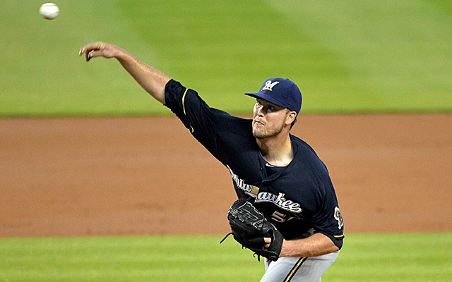 Jimmy Nelson will join the Brewers rotation on Saturday.