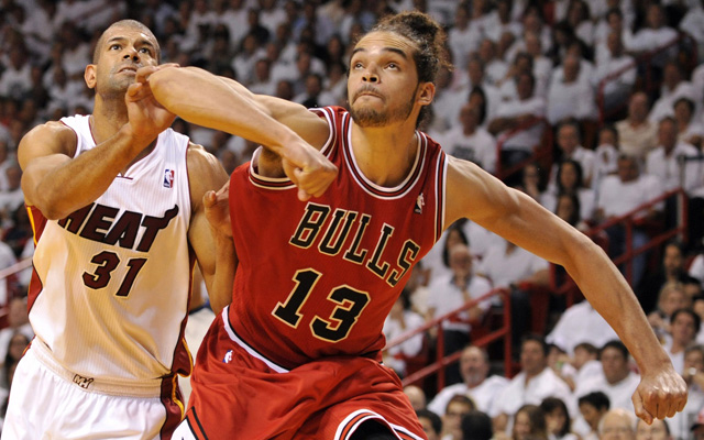 Joakim Noah and the Bulls fight hard.   (USATSI)