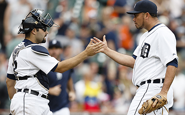 Joaquin Benoit (right) will be the Tigers closer, just not 'full-time' closer.