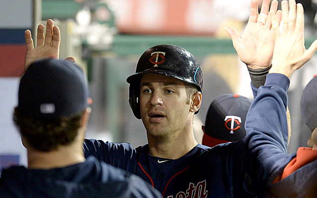 Joe Mauer has been shelved with an oblique injury.