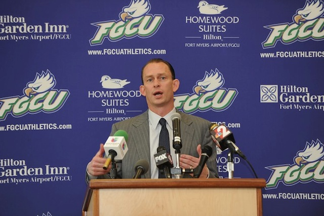 Joe Dooley will look to build off Florida Gulf Coast's Sweet 16 run in last season's NCAA tournament. (FGCU Athletics)