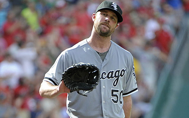 John Danks tops our list of overpaid starting pitchers.