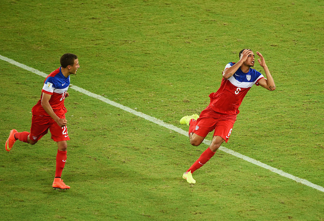 John Brooks' goal and celebration will forever be etched in the minds of American soccer fans. (Getty Images)