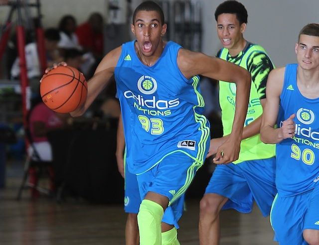 Jonah Bolden burst onto the scene with an impressive performance at Adidas Nations. (Adidas)
