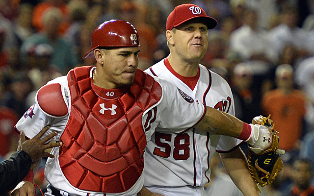 Jonathan Papelbon reacts to being ejected earlier this week.