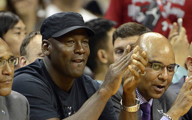 Michael Jordan is in the Warriors' corner. (USATSI)