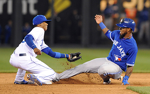 Jose Reyes will return to the Blue Jays Wednesday for the first time since this slide.