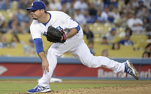Josh Beckett is already on the DL with a groin issue, but is experiencing further problems.
