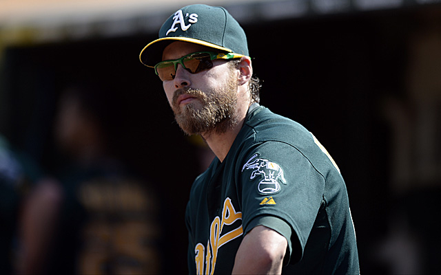 Josh Reddick is back with the A's Tuesday.