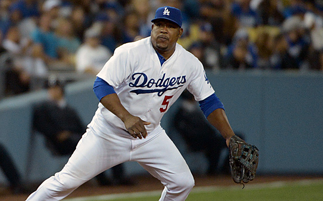 The hamstring injury finally caught up to Juan Uribe.