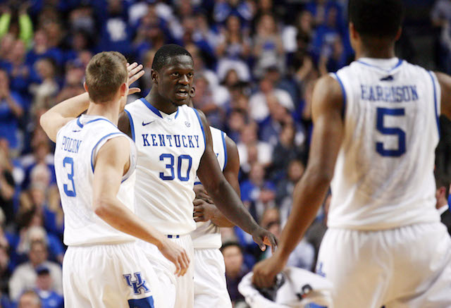 Julius Randle averaged 22.5 points and 14.5 rebounds in two easy wins for Kentucky. (USATSI)
