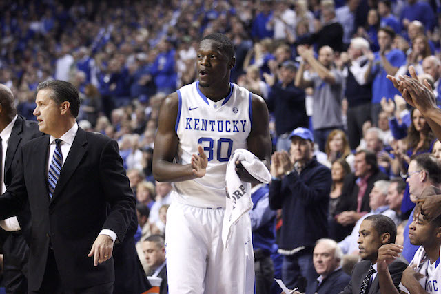 Julius Randle has gotten past the freshman wall at the right time. (USATSI)