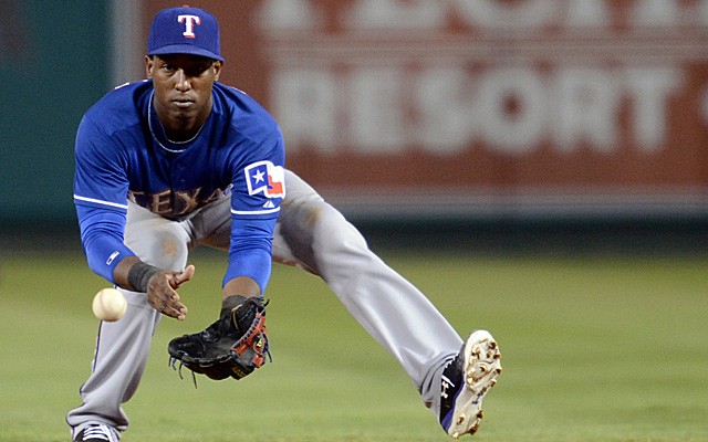 Jurickson Profar will be hampered early on in the field this spring.