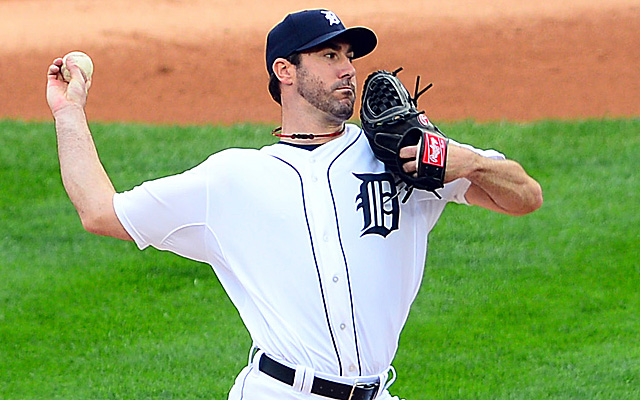 Justin Verlander tied a postseason strikeout record in the span of three innings in Game 3.