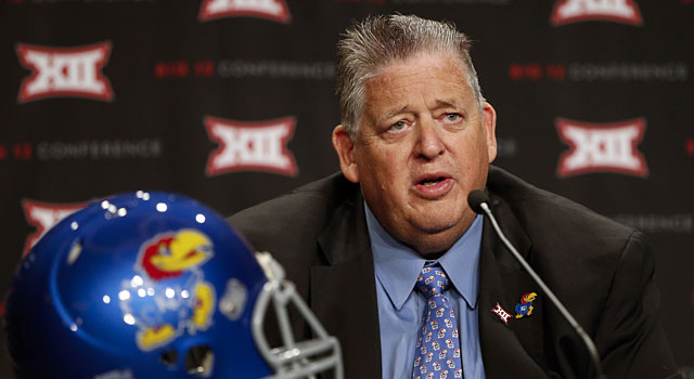 Charlie Weis needs to get at least five wins this year at Kansas. (USATSI)